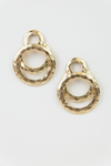 Gold Plated Overlapping Hoop Earring - Haute & Rebellious