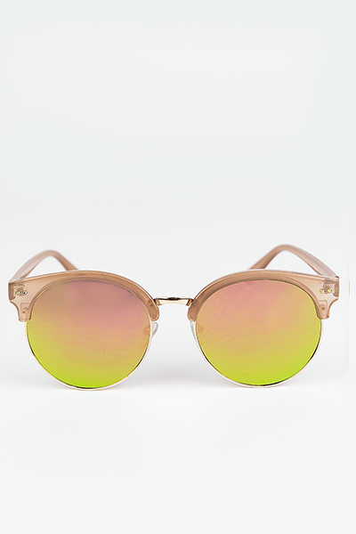 Road Ahead Reflective Sunglasses - Tan/Green - Haute & Rebellious