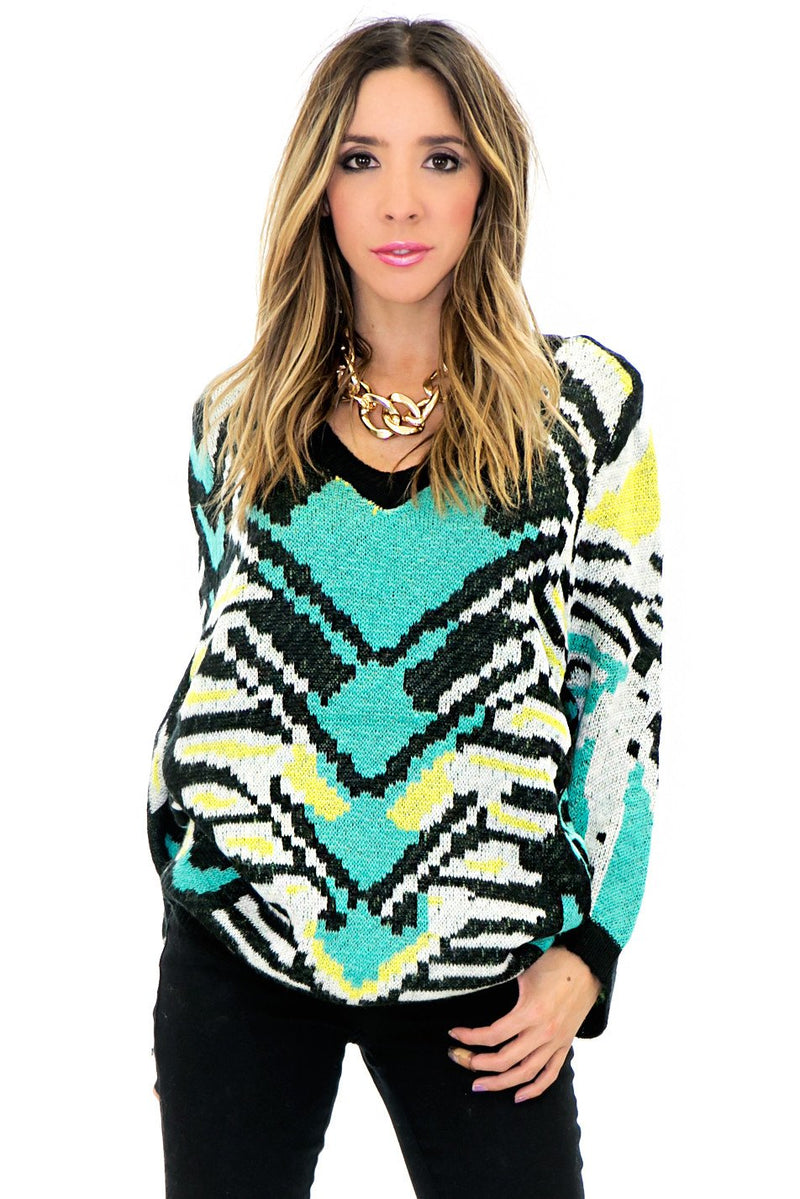 HUT TRIBAL WOOL SWEATER - Haute & Rebellious