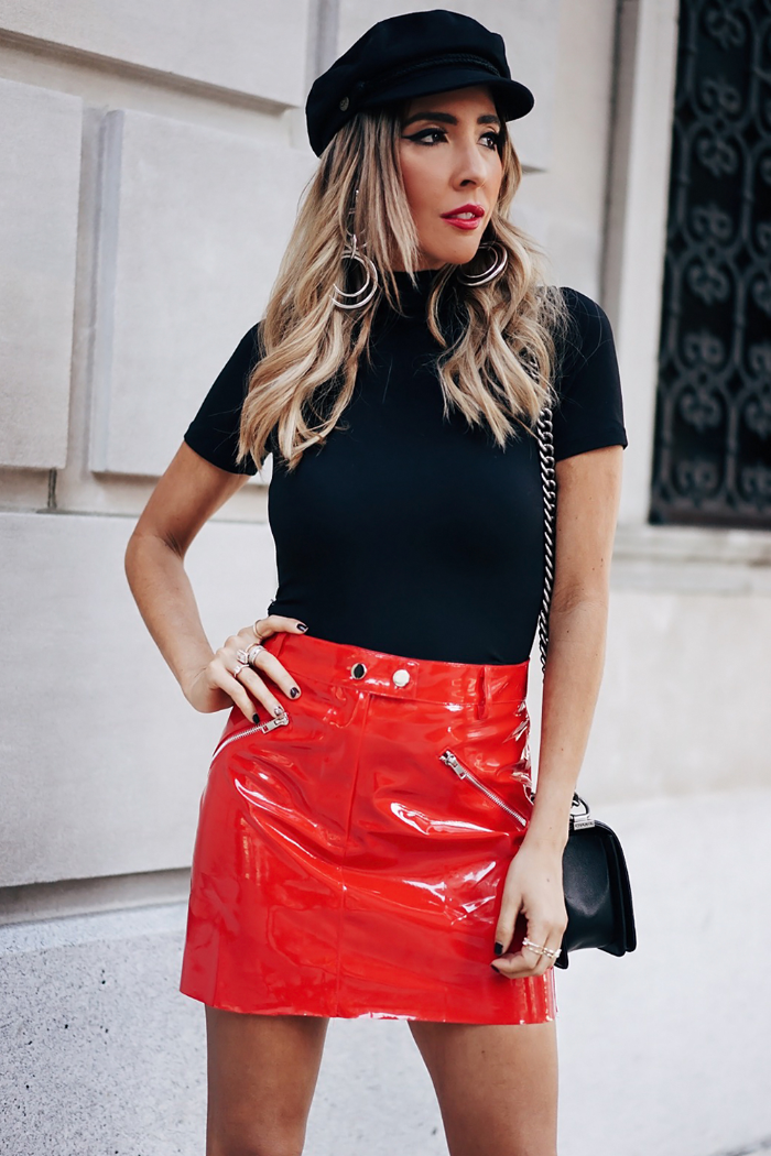 Patent Leather Mini Skirt - Red /// Only 1- M Left ///
