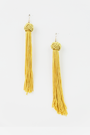 Yellow Tassel Earrings - Haute & Rebellious