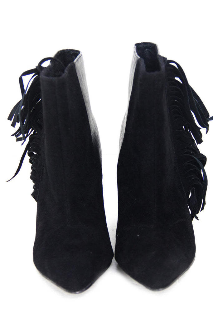 FRINGE ANKLE BOOT - Black