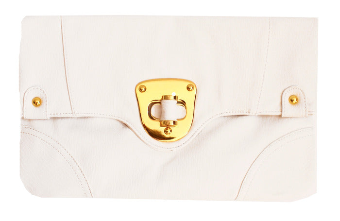 WHITE ENVELOPE CLUTCH - Haute & Rebellious