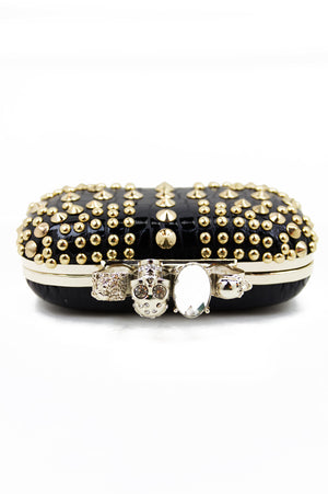 STUDDED KNUCKLE CLUTCH - Black - Haute & Rebellious