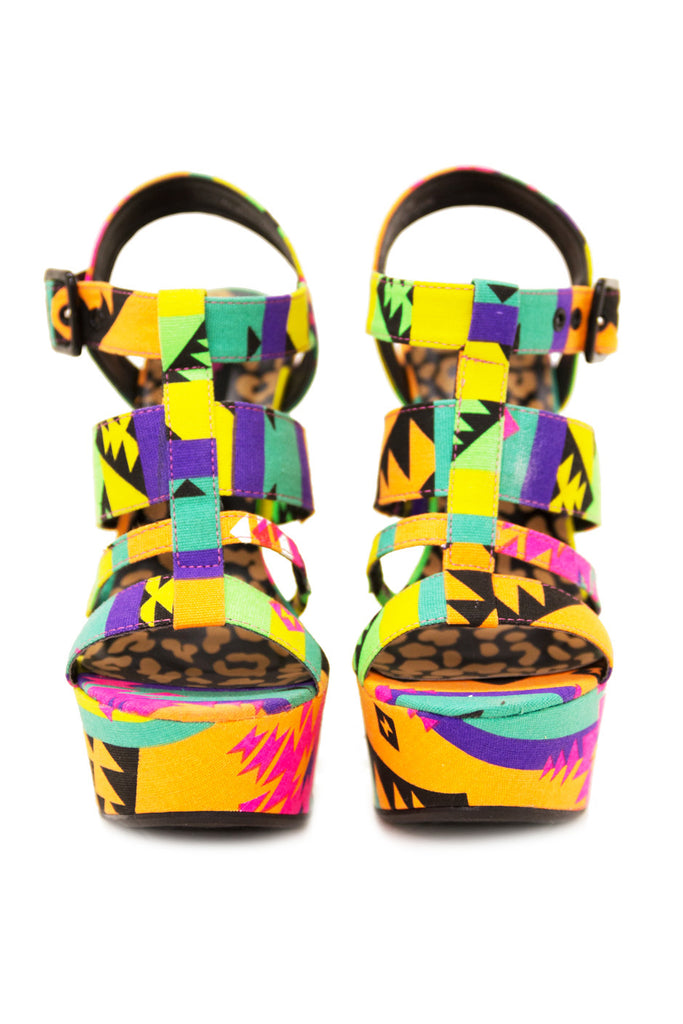 TANYA NEON TRIBAL WEDGE