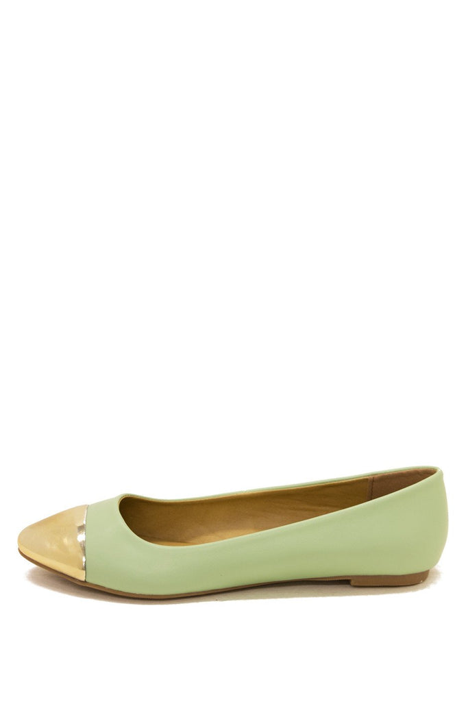 GOLD PLATED TOE FLAT - Mint