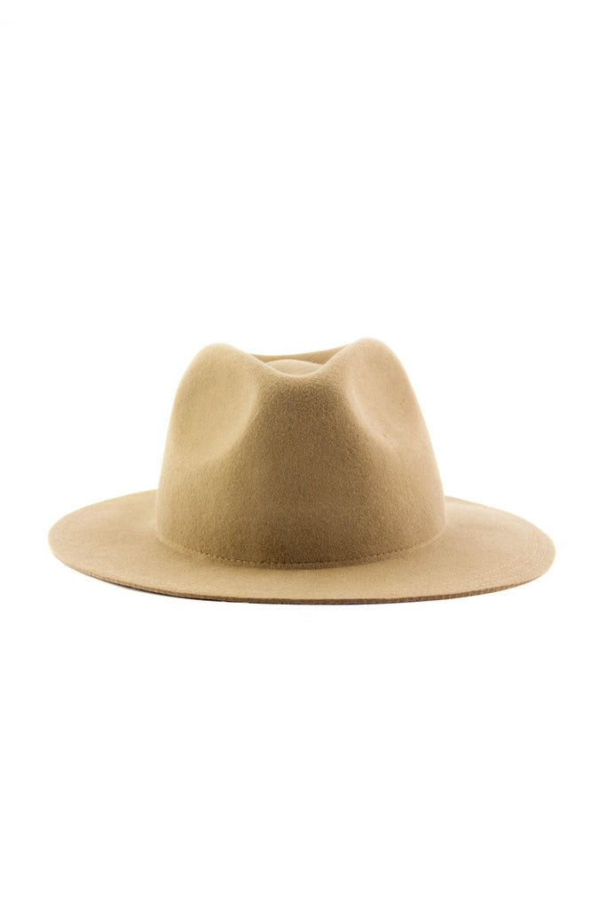 FLOPPY BRIM WOOL HAT - Camel