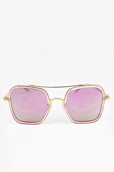 Harpers 70's Sunglasses - Gold/Pink - Haute & Rebellious