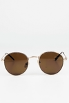 See You Sunday Sunglasses - Gold/Brown - Haute & Rebellious