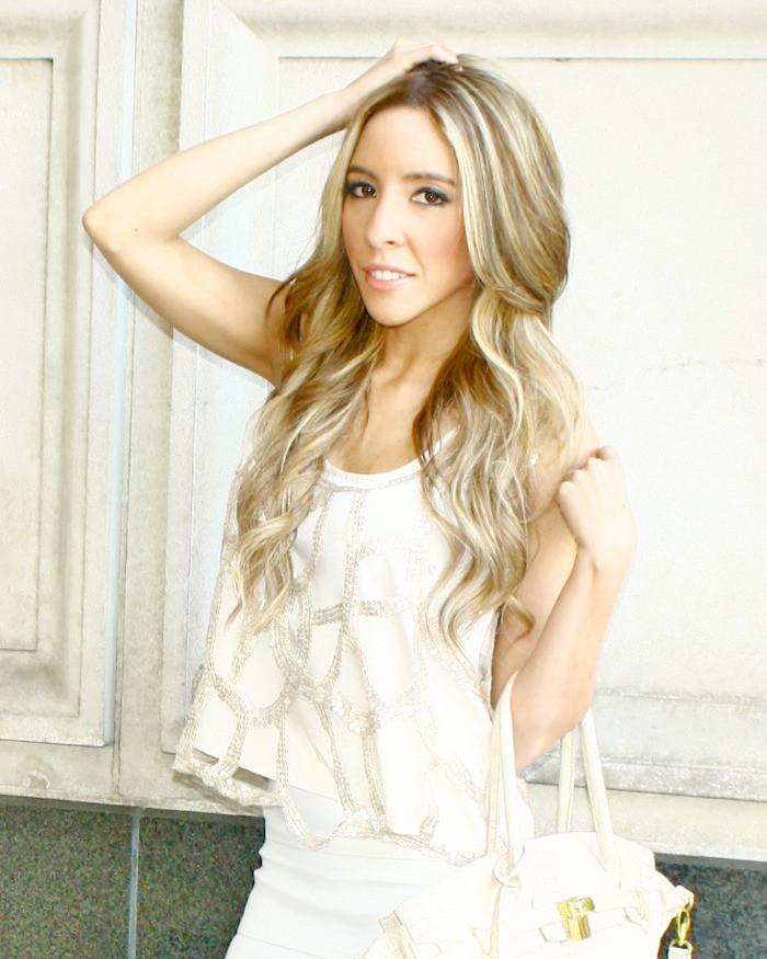 CROPPED SEQUIN BEIGE TOP