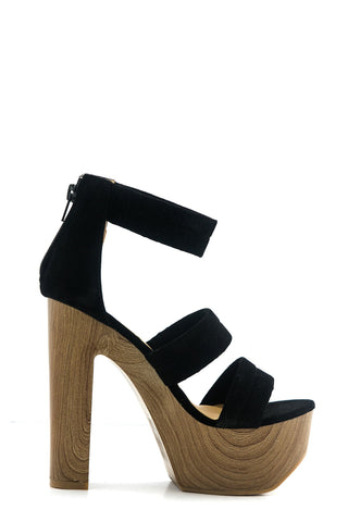 IVY TWO BUCKLE CUTOUT BOOTIE - Black