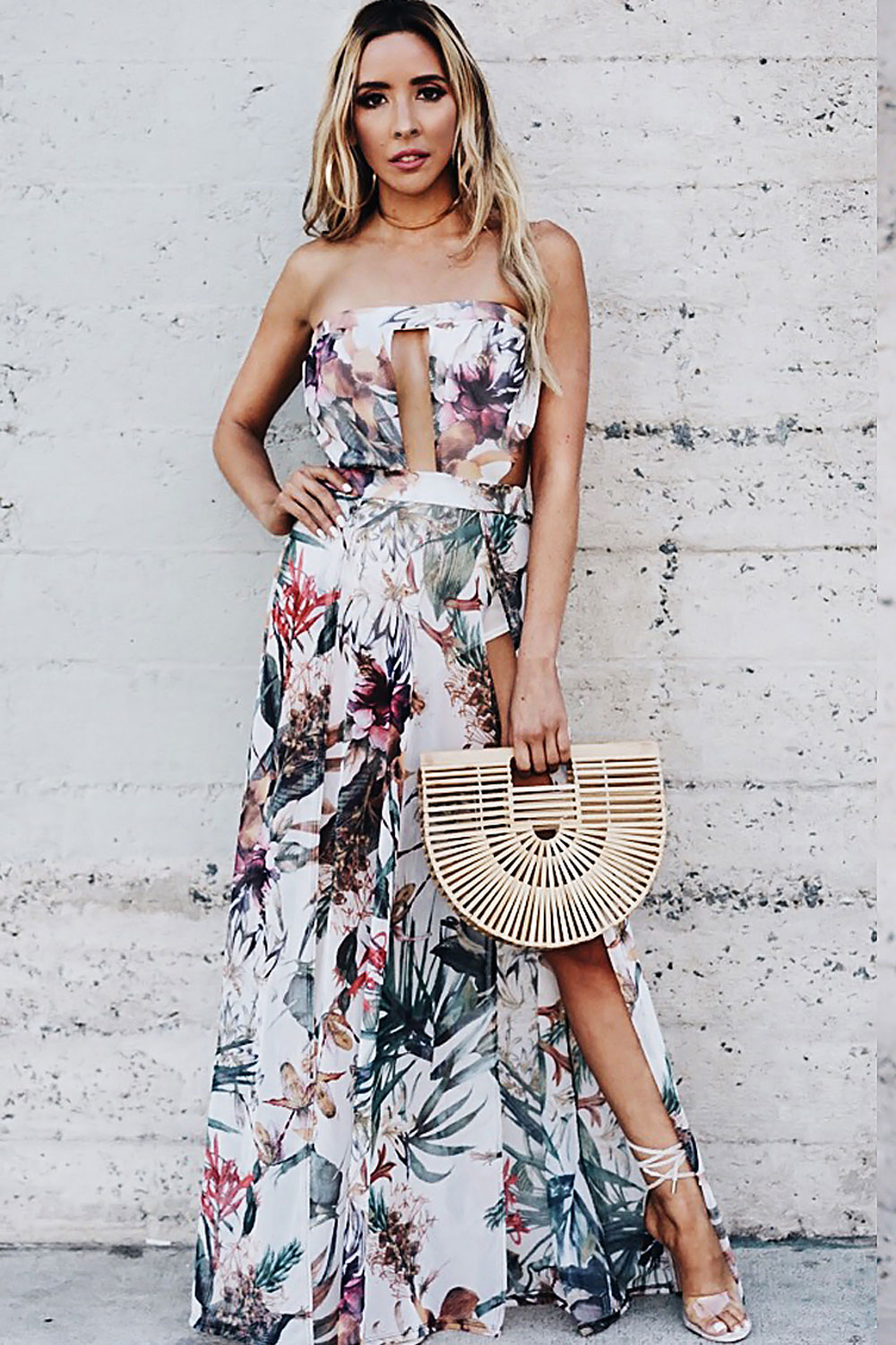 Can't Stop This Feeling Slit Maxi Dress