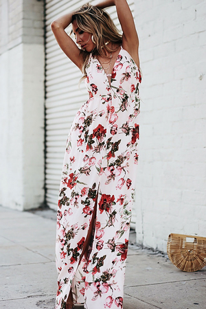 PS I Love You Floral Slit Maxi Dress - Haute & Rebellious