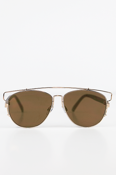 Amelia Aviator Shades - Gold/Brown - Haute & Rebellious