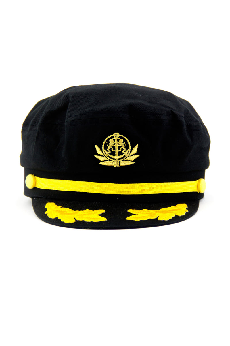 SAILORS YACHTING CAP  - Black - Haute & Rebellious