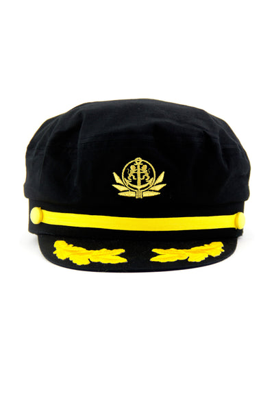 SAILORS YACHTING CAP  - Black