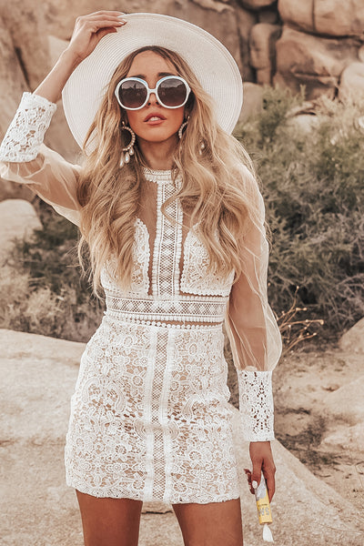 Lace Sheer Body-Con Dress