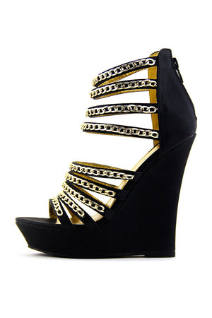 HARLEM MULTIPLE CHAIN WEDGE - Haute & Rebellious