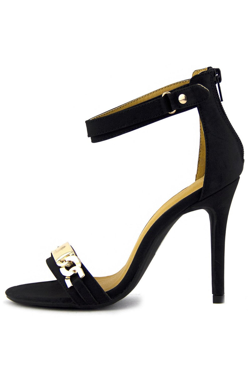 BRIT GOLD CHAIN HIGH HEEL - Haute & Rebellious