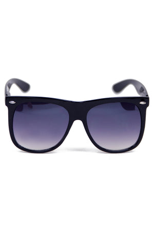 OVERSIZE WAYFARER SUNGLASSES - Black - Haute & Rebellious