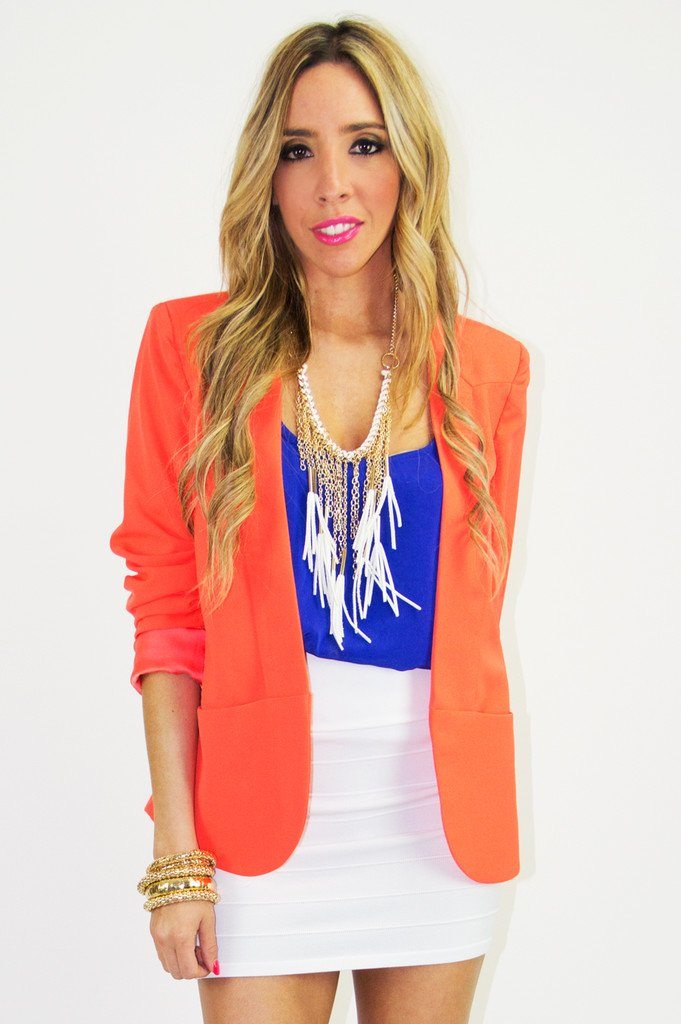 BRIGHT ORANGE NEON BLAZER