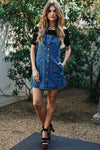 Baby Doll Denim Overall Dress - Haute & Rebellious