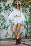 Just The Way I Lace-Up Shorts - White - Haute & Rebellious