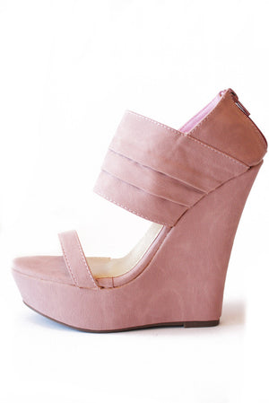 WHITNEY WEDGE - Pink - Haute & Rebellious