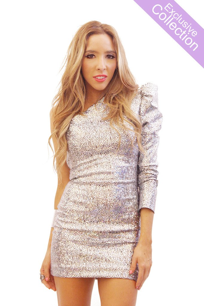 METALLIC PUFF ONE SHOULDER SLEEVE - Exclusive Collection