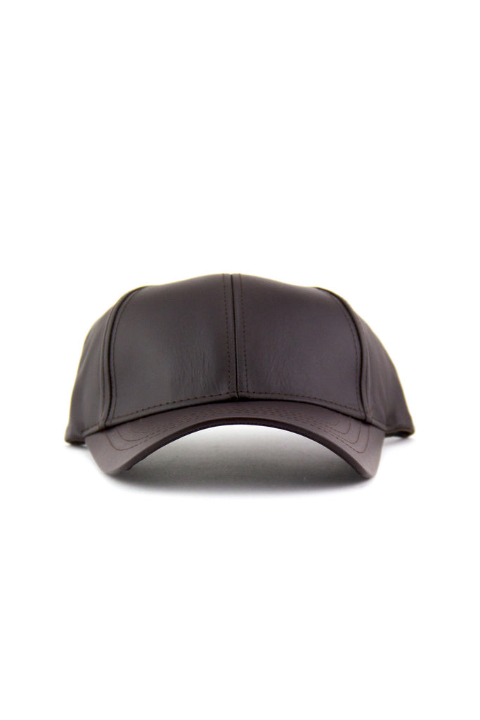 GENUINE LEATHER CAP - Brown