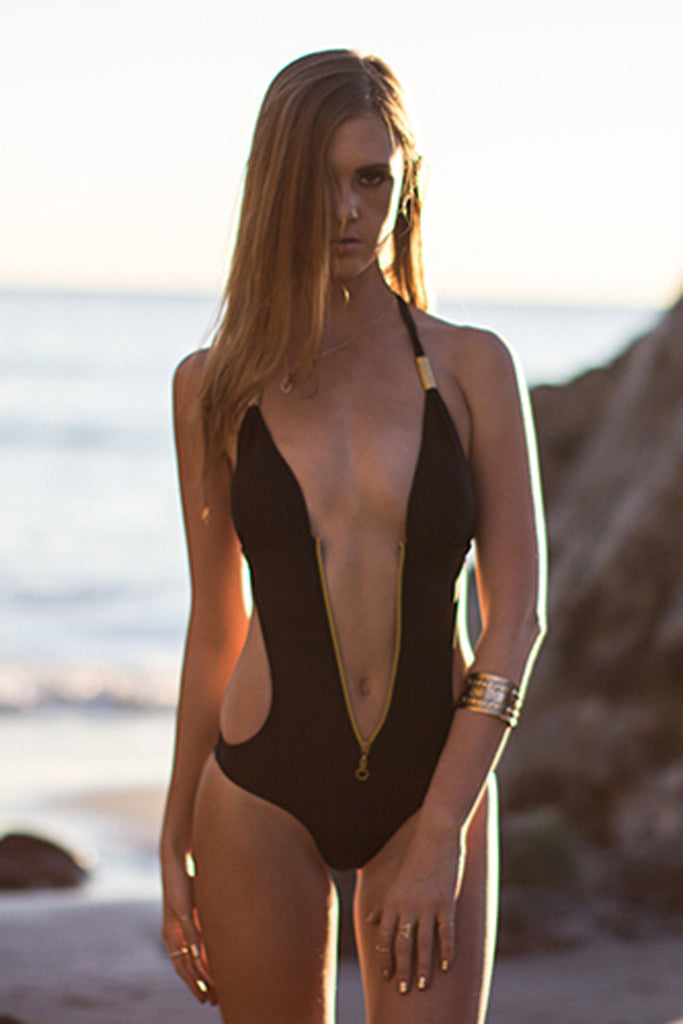 Vix Cutout Zip One-Piece Swimsuit