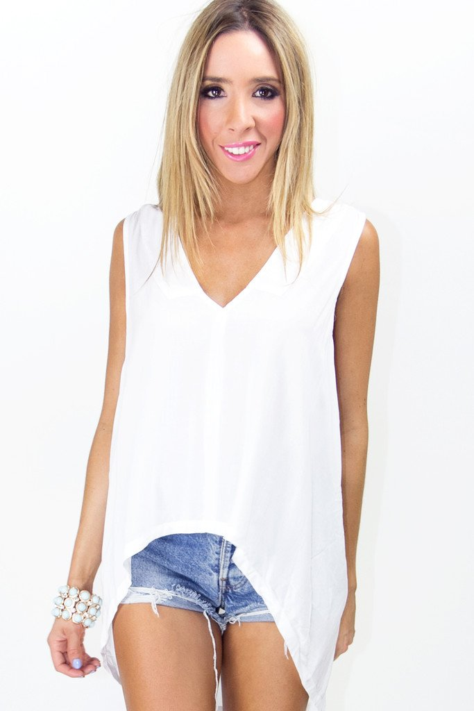 HIGH-LOW TOP - White - Haute & Rebellious