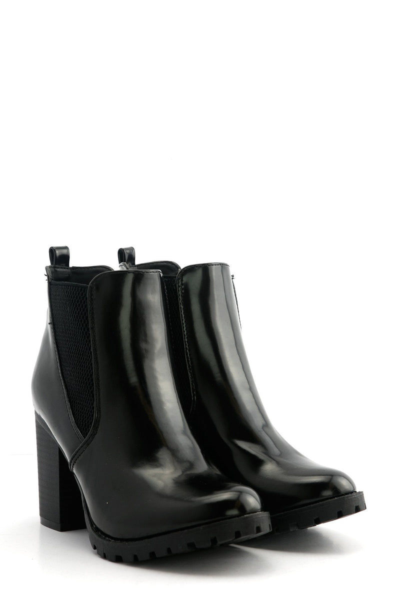 Marlee Leather Bootie - Haute & Rebellious