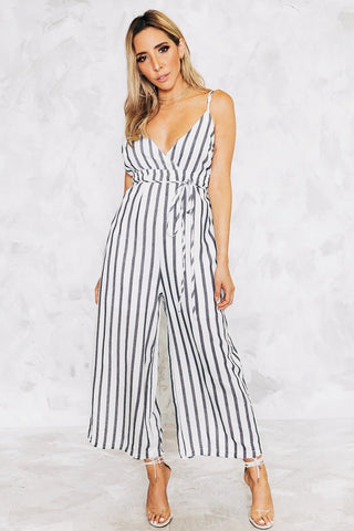 LENAI OPEN BACK JUMPSUIT - White