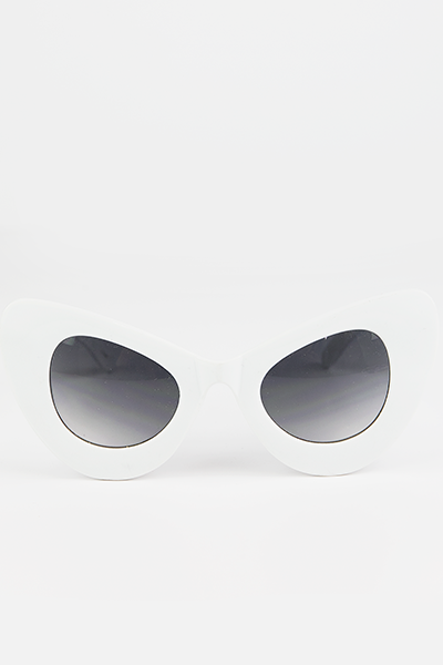Sophie Cat Eye Sunglasses - White - Haute & Rebellious