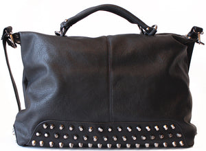 Haute & Rebellious STUDDED BLACK BAG in [option2]