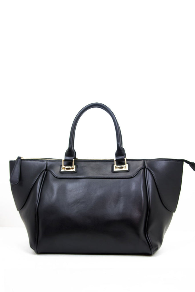 LARGE SATCHEL BAG - Black