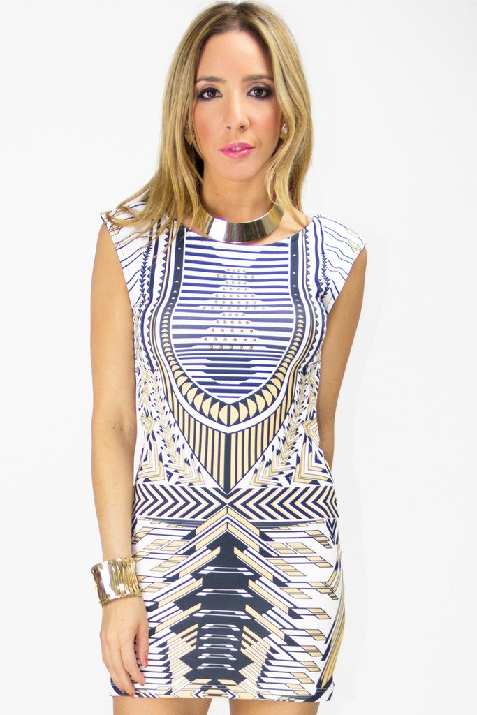 MARA TRIBAL PRINT DRESS