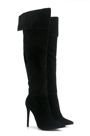 Elisah Suede Knee High Boots - Haute & Rebellious