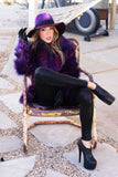 AGATHA FAUX FUR COAT - Purple