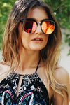 Road Ahead Reflective Sunglasses - Pink - Haute & Rebellious