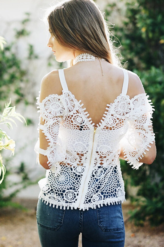 Flower Child Crochet Top