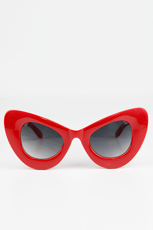 Sophie Cat Eye Sunglasses - Red - Haute & Rebellious