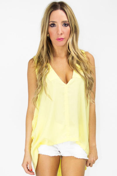 MELONI HIGH LOW TOP - Yellow - Haute & Rebellious