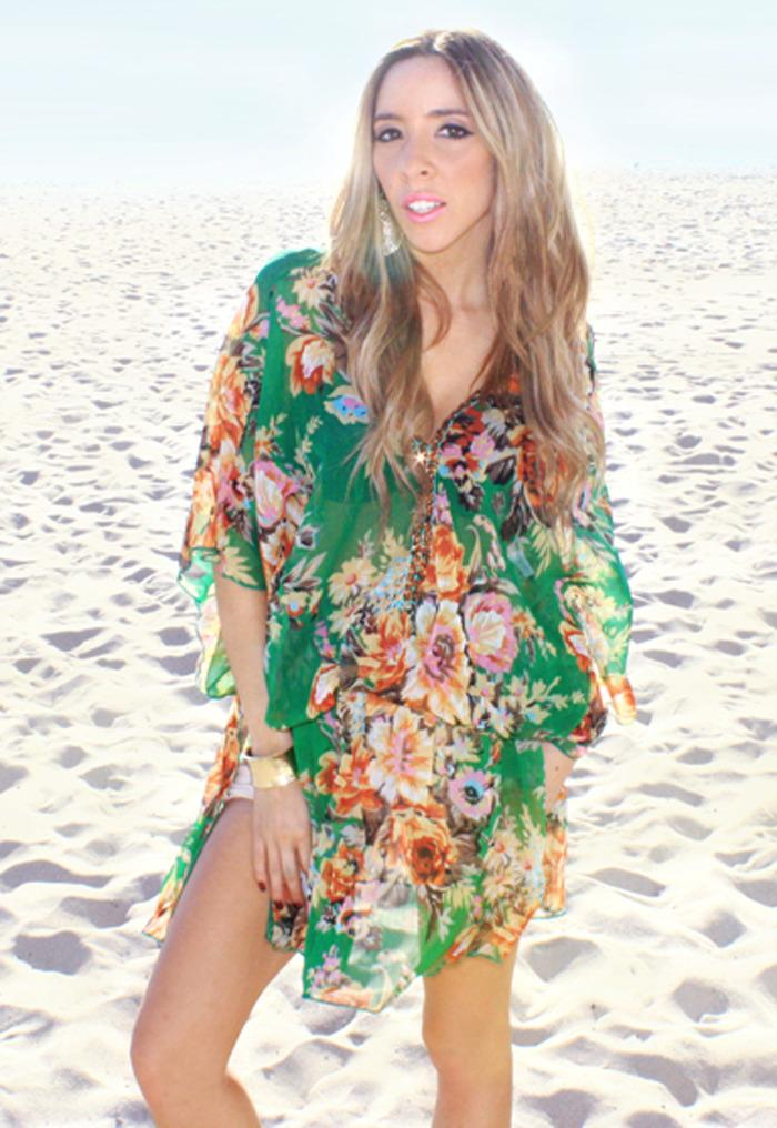 GREEN FLOWER TUNIC - Haute & Rebellious