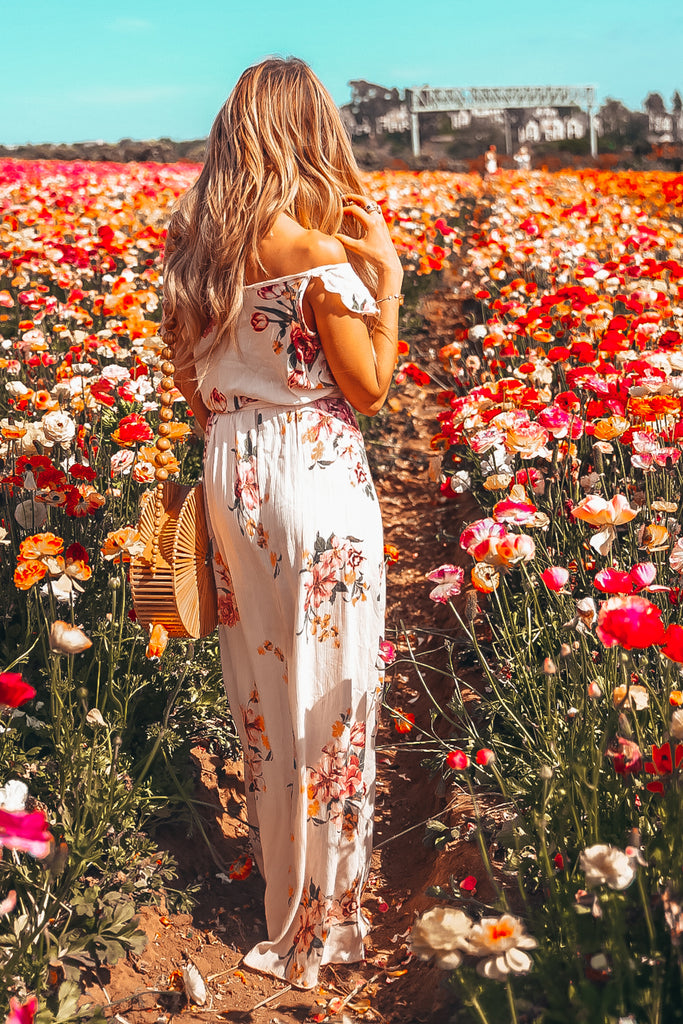 Floral Wrap Dress with Ruffle Detail