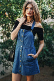 Baby Doll Denim Overall Dress