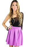 A LINED SKIRT- Electric Purple - Haute & Rebellious