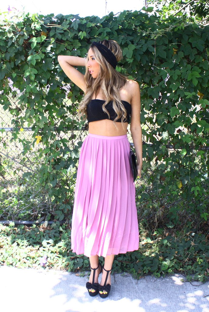 LONG SKIRT WITH PLEATS