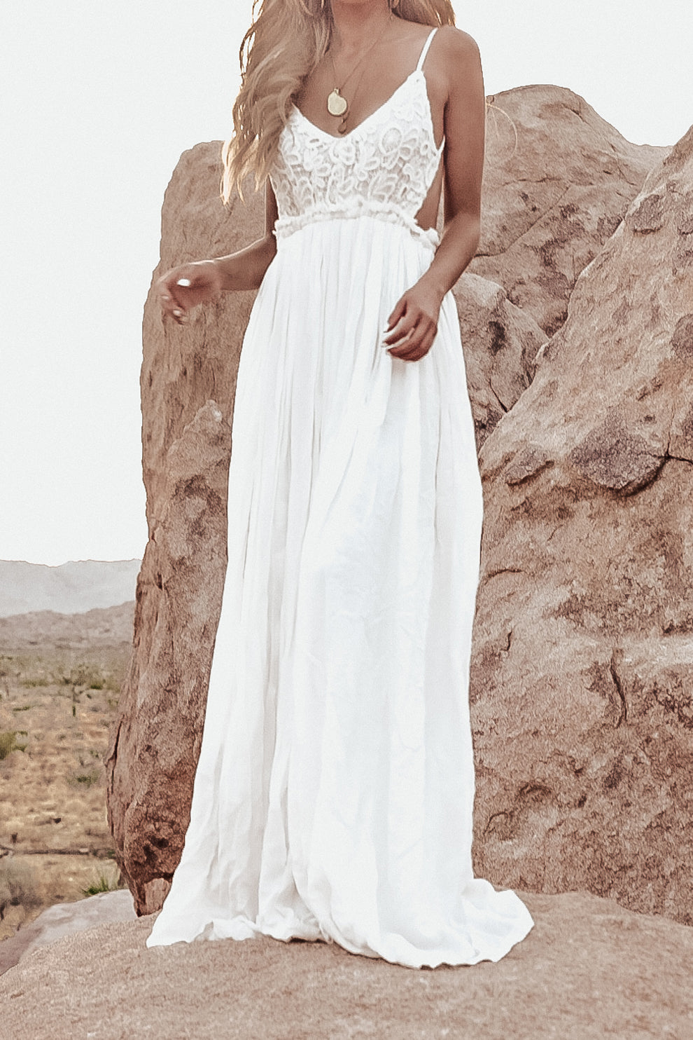 Camilla Open Back Crochet Maxi Dress - Back in Stock!
